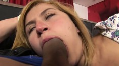 Michelly Cinturinha in a cunt, dick, and lady dick threesome with hot action
