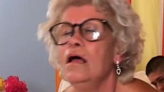 Smoking hot granny loves to get her lover to cum on her face