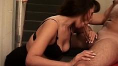 Hot Latina slut gets rocked by her younger lover's big member