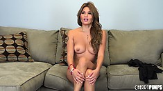 Sexy Charmane Star bares her perky tits and exposes her hot bush