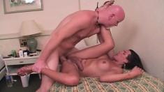 Moura is a naughty bimbo who loves to swallow throbbing cocks