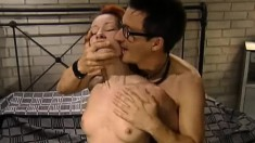 Redhead Tanya Gives Him Head Before He Shoves His Dick Up Her Ass