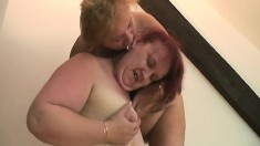 Two naughty mature ladies introducing each other to wild lesbian sex