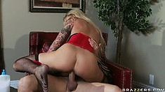 Huge shafts is something that busty blonde can't live without