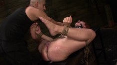 Rose Red Tyrell Is Tied Up And Face Fucked Before She Gets Toyed