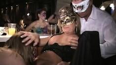 Hardcore Group Sex In Night Club
