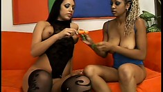 It's juicy orgasmic pleasure that these two ebony babes seek