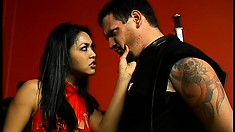 Dirty Asian dominatrix Mika punishes horny naughty amateur Jim