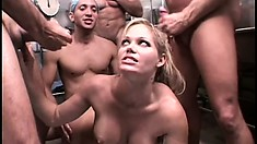 She is on display at the hospital and takes all cocks in a gangbang
