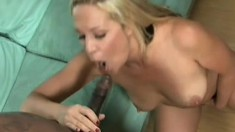 Chubby, big tit Milf always wanted to try a black cock and gets one to fuck her