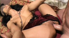 Lustful mature Asian lady gets fucked in the ass by a horny white stud