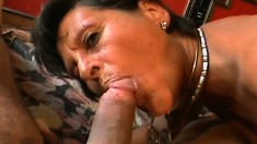 Experienced woman Alishea finds a hung young stud for some fun