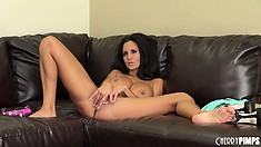 Ava Addams is a busty brunette MILF that likes to play with herself