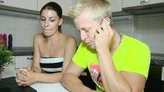 Lustful teeny takes a cock up her ass and her boyfriend gets to watch