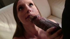 Adorable young babe Jamie Jackson is introduced to a huge black dick