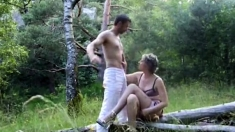 Hot Granny Gets Fucked Outdoors