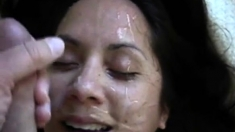Dirty Talking Wife Gets A Big Facial 2