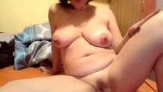 Webcam masturbation Busty BBW mom Andrea