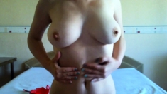 Lithuanian Babe Big Clit and Hard Nipples