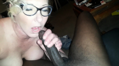 Interracial sex for blonde milf black cock