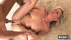 Dick-slurping horny MILF finally gets satisfied by a hung stallion