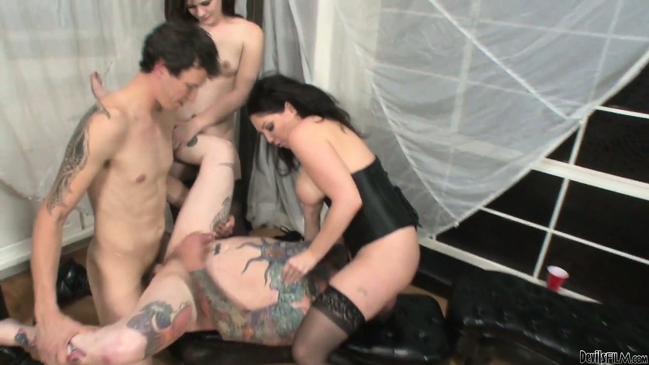 Girl Fucks Two Gay Guys