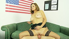 He got that cock deep inside and then she sat on it, and it was tight as fuck