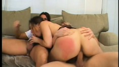 Oriental chick wants to feel a dick up her pussy as she sucks another
